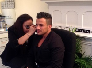 musicians ear plugs with Peter Andre