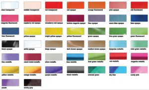 ear plugs Colour-Chart